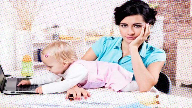 Sofá Office: as aventuras de uma mãe