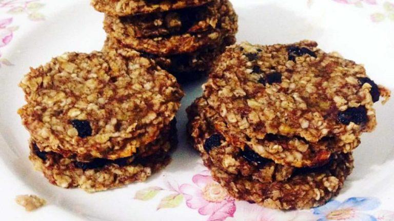 Cookies de Banana com Aveia