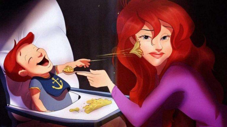 Como seriam princesas da Disney como mães