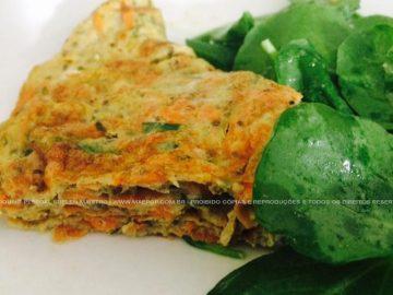 Omelete com agrião