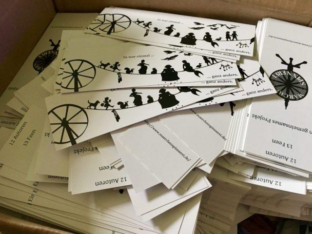 Märchenspinner-Lesezeichen für das Ostergewinnspiel. Design von Janna Ruth und Charlotte Erpenbeck