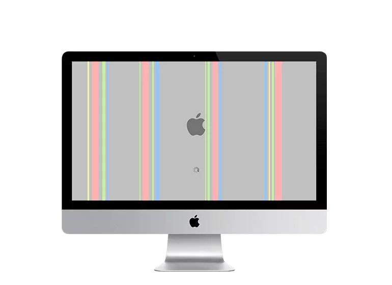 Líneas verticales iMac
