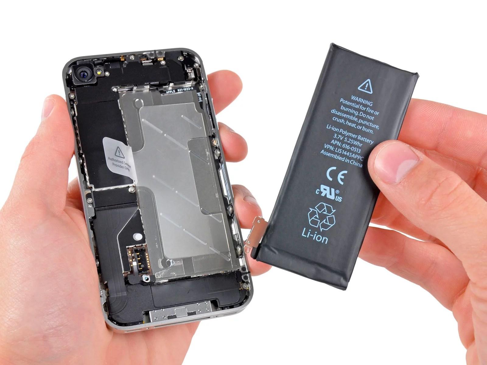 Cambiar la batería de iPhone
