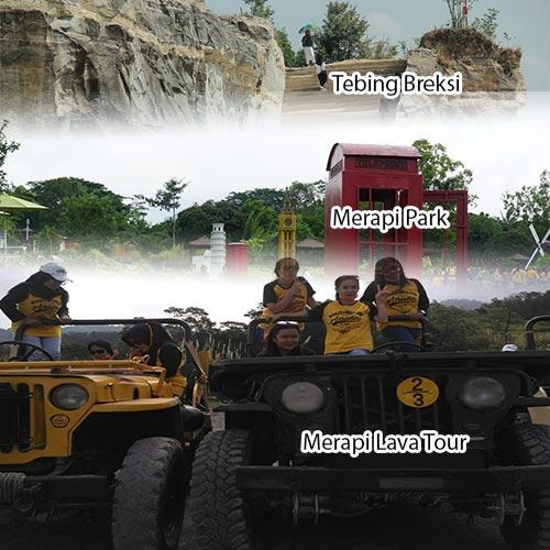 Trip Jogja 1D Merapi Lava Tour - Merapi Park - Tebing Breksi