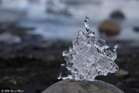 Natuurlijk ijssculptuur