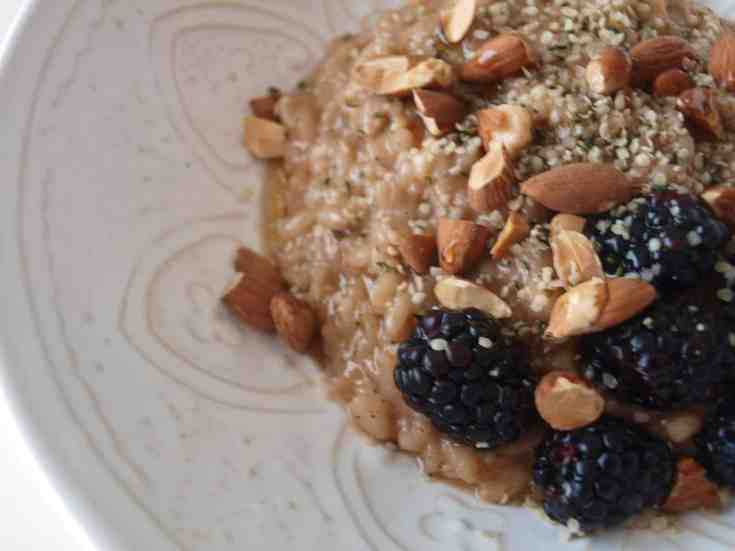 Coconut Maple Chai Breakfast Risotto