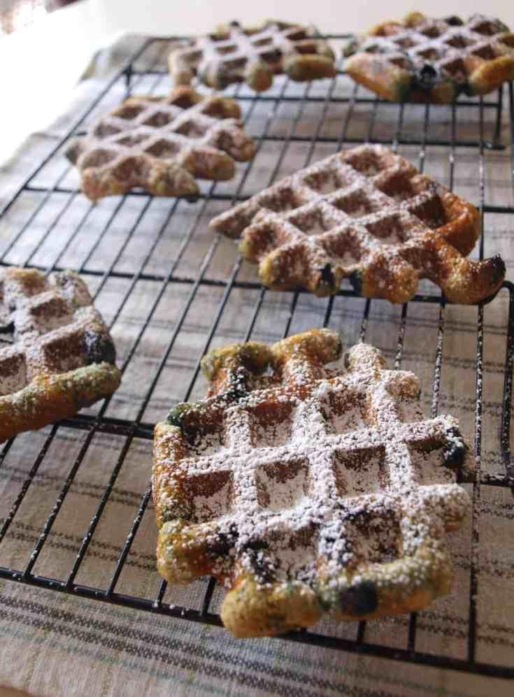 Blueberry Muffle Recipe | Mae's Menu
