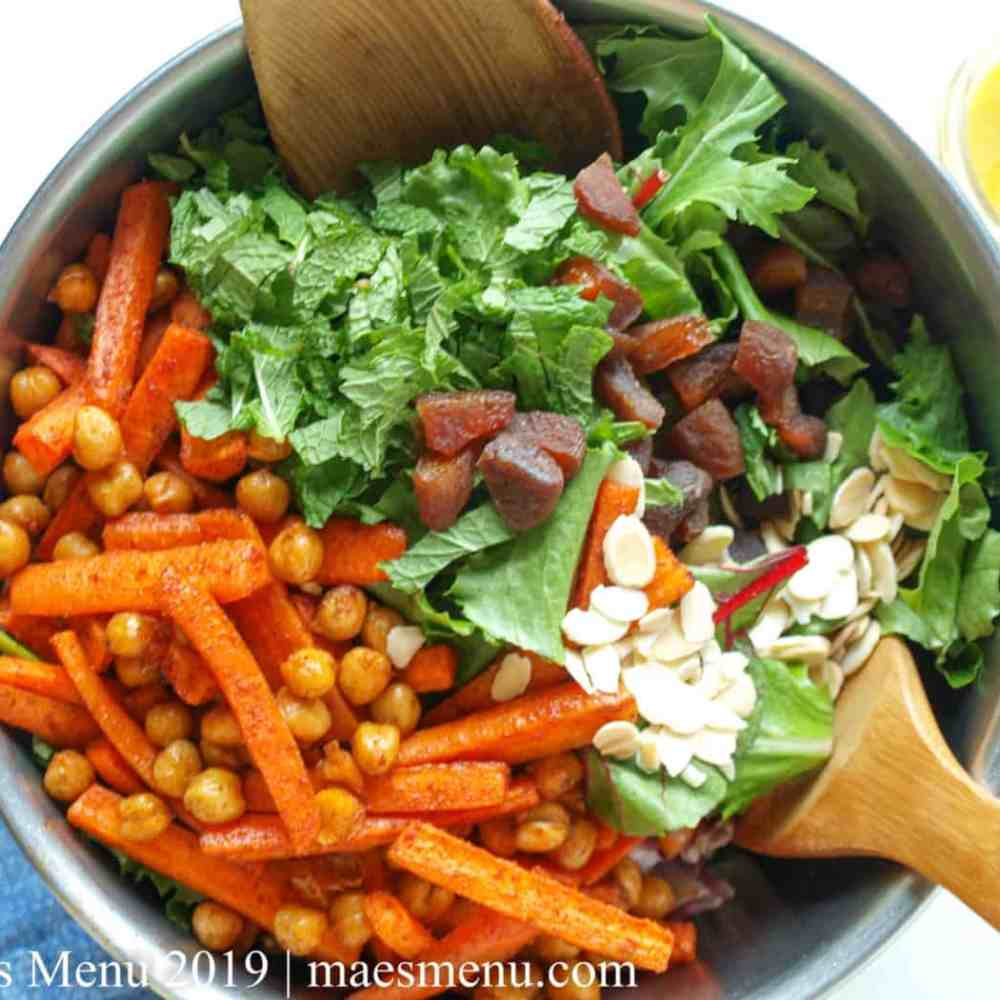 Moroccan Chickpea Salad with Carrots