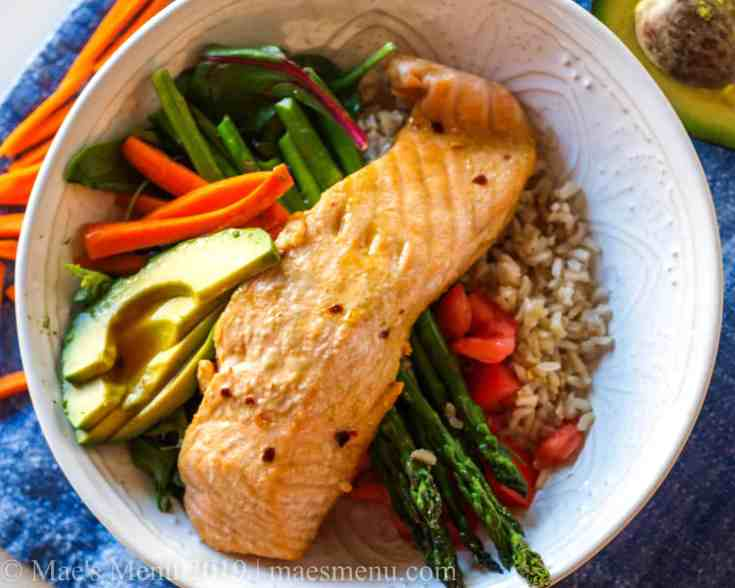 Salmon Orange Protein Bowls Recipe