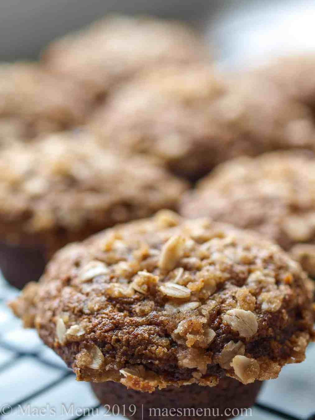 A rack of healthy pumpkin spice blender muffins