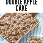 a pinterest pin for flourless double apple cake