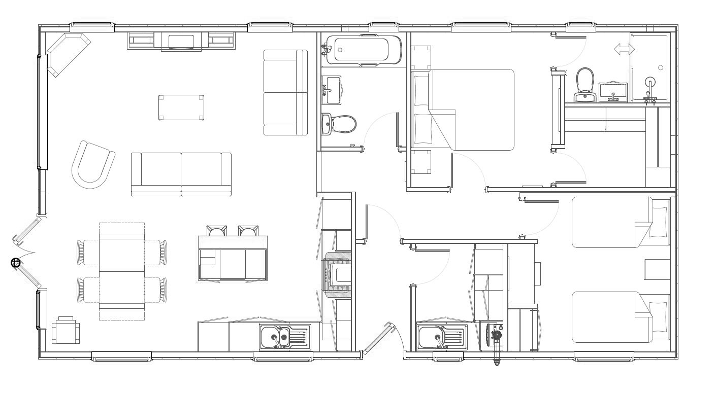 2 Bed Foresters Lodge Floorplan