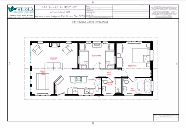 Wessex Spinney Lodge Floor Plan