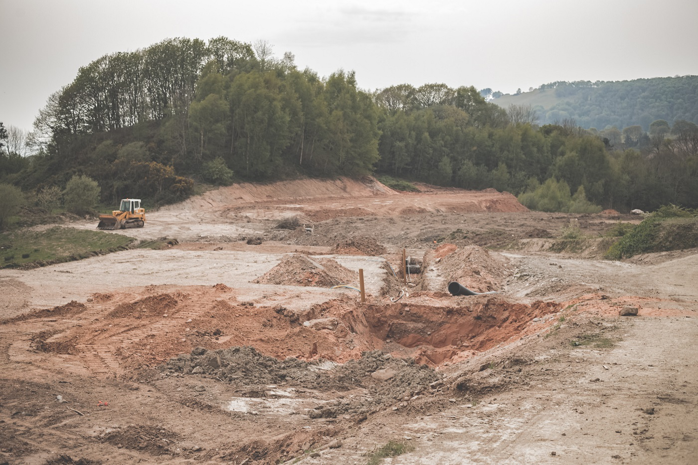 The old sand quarry shows its hand