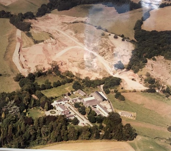 Maes Mynan Sand and Gravel quarry workings 1960's