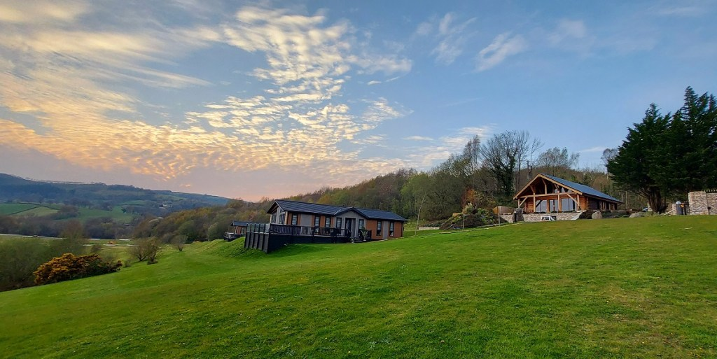 Sunsets over holiday Lodges | Maes Mynan Park | North Wales