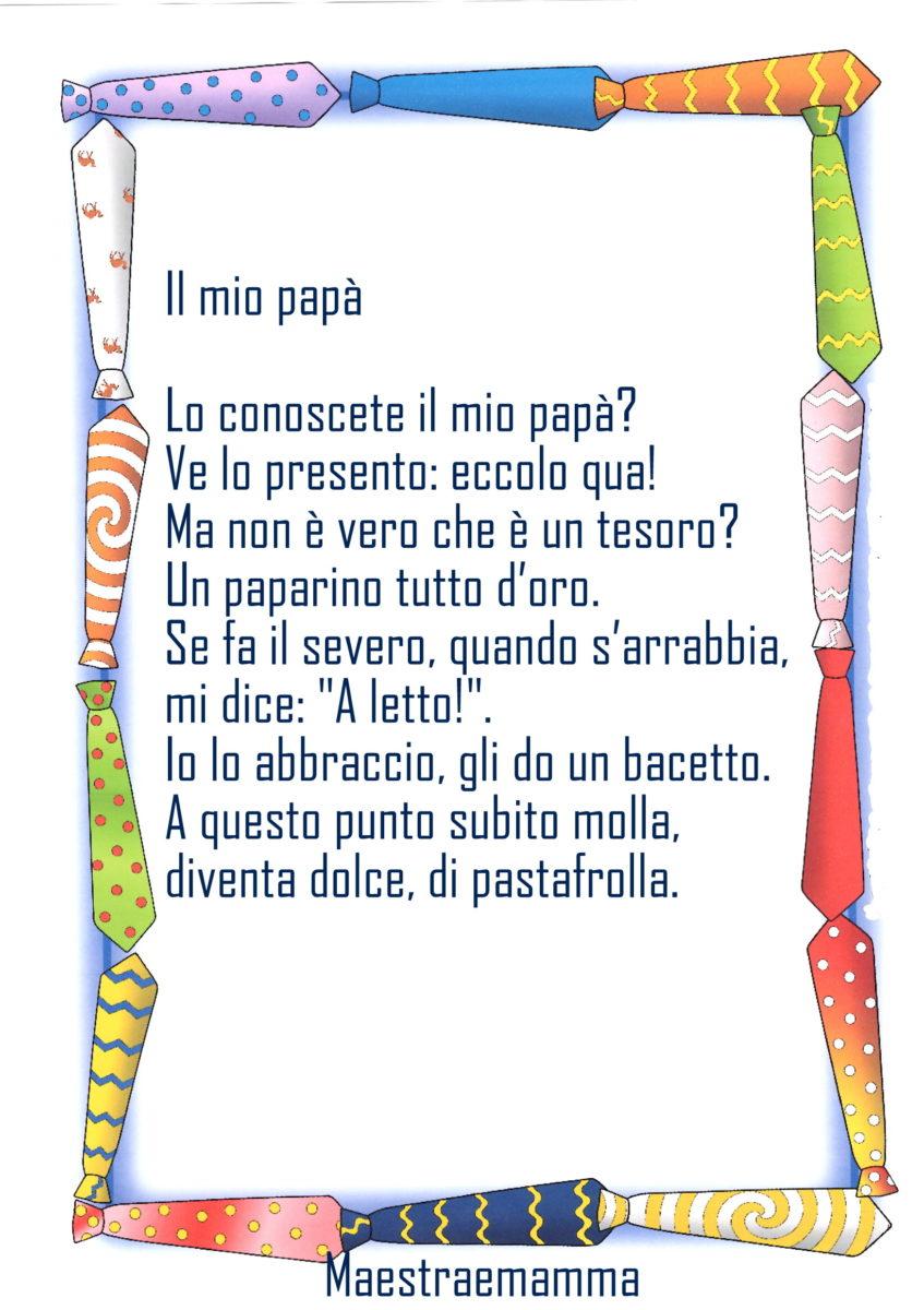 Poesia Festa del papà