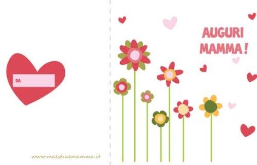 Biglietto con fiori