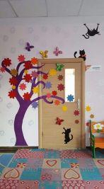 porte decorate primavera door spring classroom 1