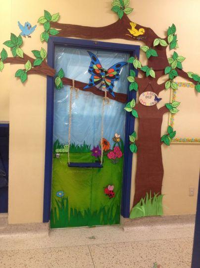 porte primavera decorazioni sezioni scuola infanzia asilo nido materna 2