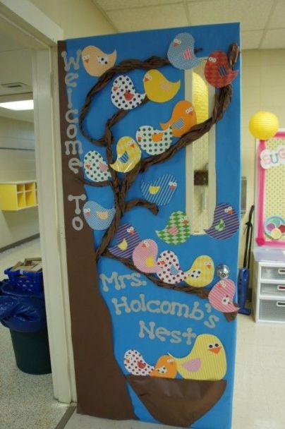 porte primavera decorazioni sezioni scuola infanzia asilo nido materna