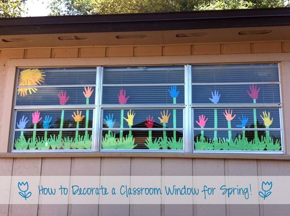 Decorazione Finestre Autunno : Idee per decorare le finestre delle vostre classi in primavera