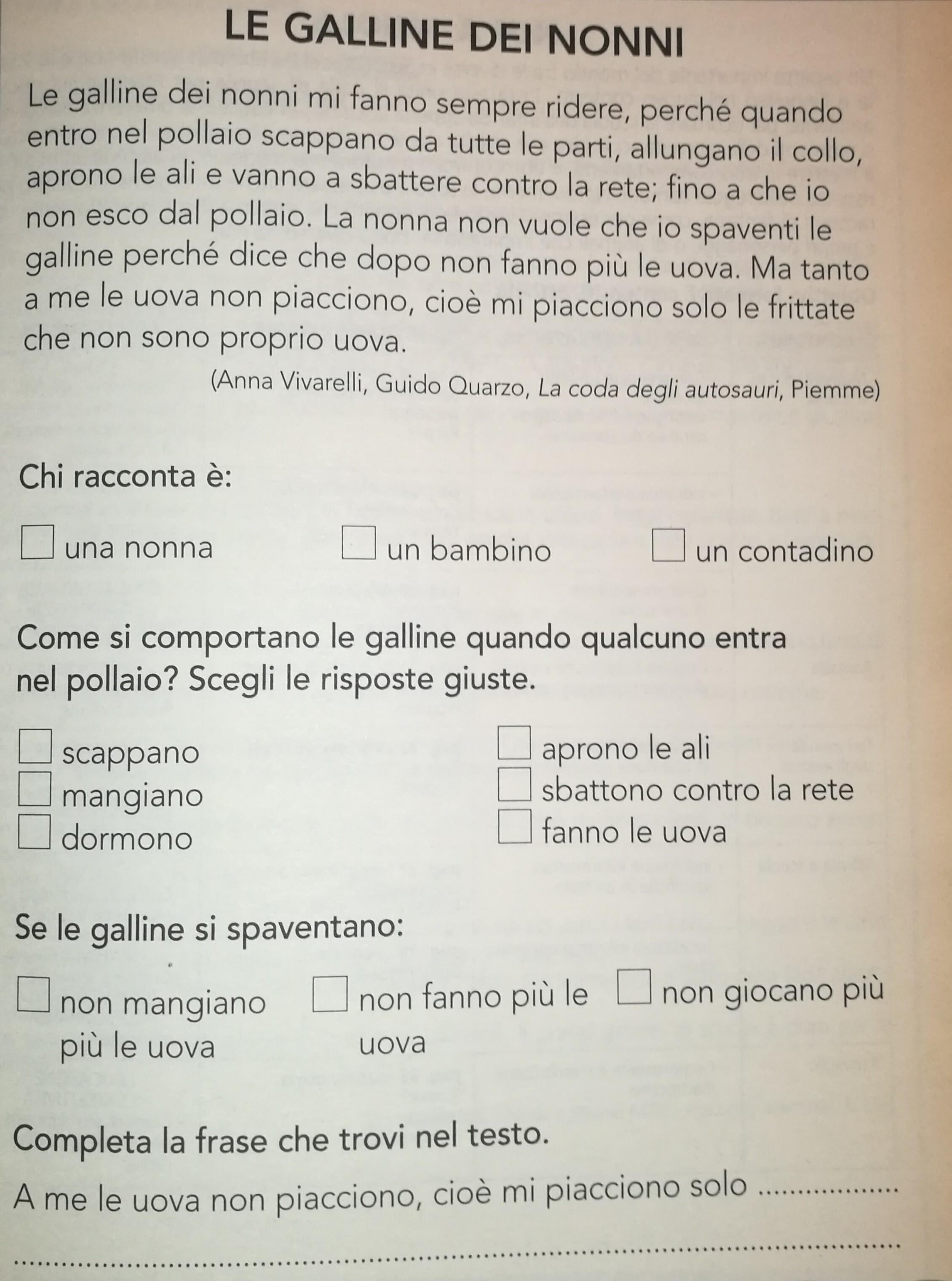 Dettati Ortografici E Prove Di Comprensione Prove Ingresso Maestra