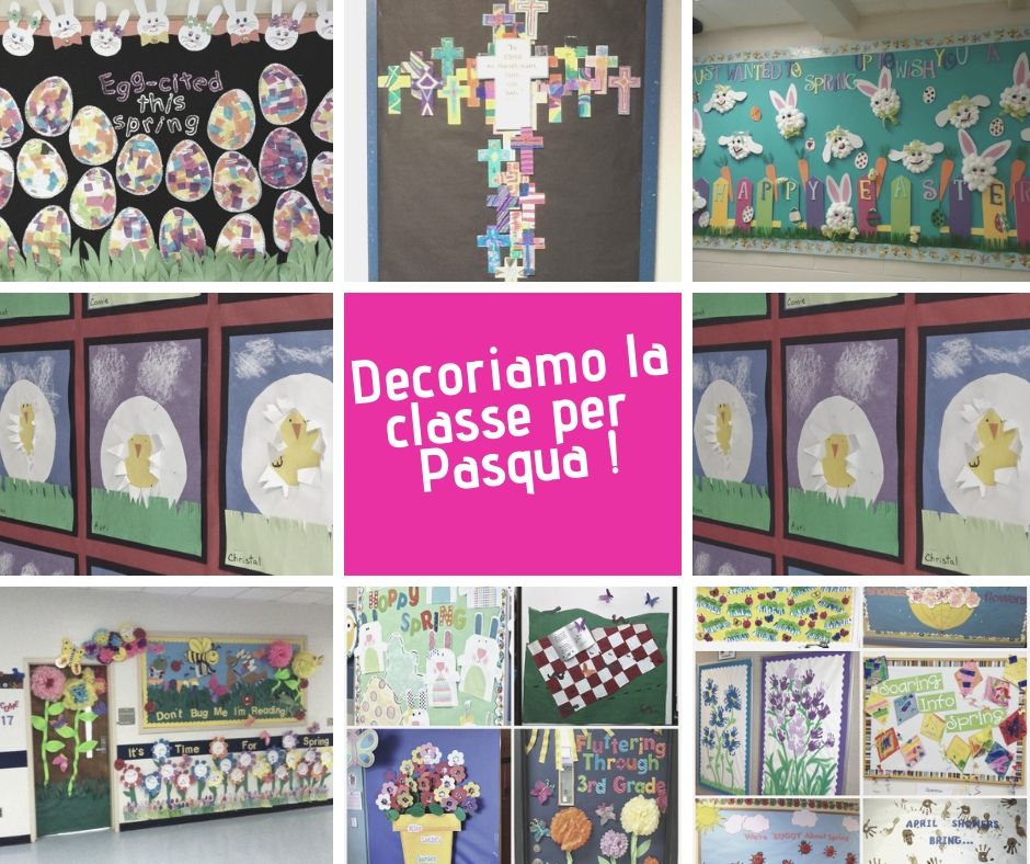 Idee per creare pannelli decorativi per la classe a tema PASQUALE e PRIMAVERILE