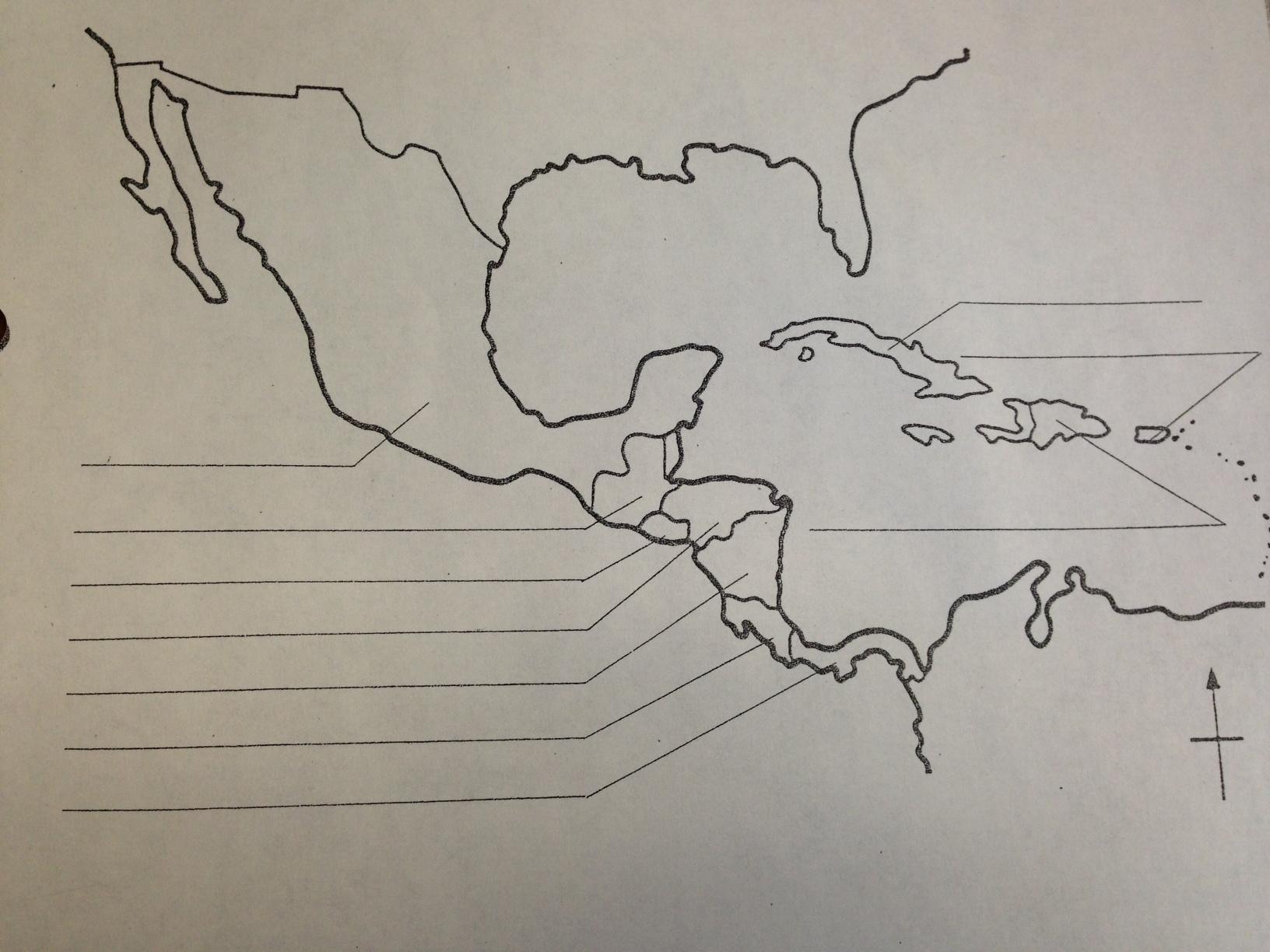 Caribbean Map Worksheet