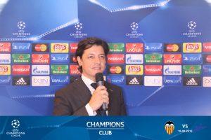 UEFA CHAMPIONS CLUB SPEAKER Maestro de Ceremonias