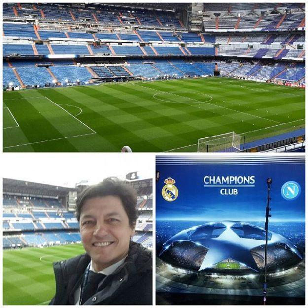 A punto de comenzar el partido de la UEFA Champions League Napoles Vs Real Madrid. Abou to start the game.Tel 644597199Www.maestrodeceremonias.es Www.presentadoresdeeventos.com#bilingualspeakers #masterodceremoniesbernabeu #speakeruefa #sportspeakers #presentadoredeeventosberabeu