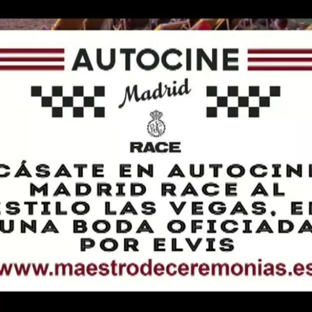 ¿Quieres que te case Elvis? Ven este fin de semana 14 y 15 de Septiembre de 2018 de 20.00 a 22.00 a Auto Cine Race Madrid! www.maestrodeceremonias.eshttps://www.youtube.com/watch?v=zz8ubm-HwCs#autocinemadridrace#autocinemadridrace #revistaelduende @revista_el_duende @autocinemadridrace_oficial