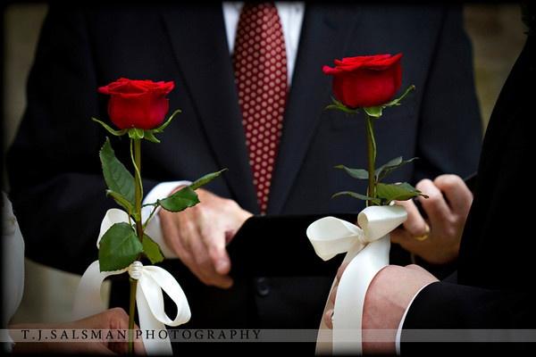 La ceremonia de las rosas.