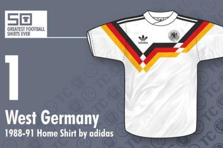 jersey bola Jerman barat 1988-1991 - bikin baju bola