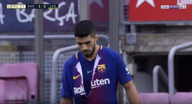 jersey sepak bola terbaru 2017 barcelona dirobek suarez