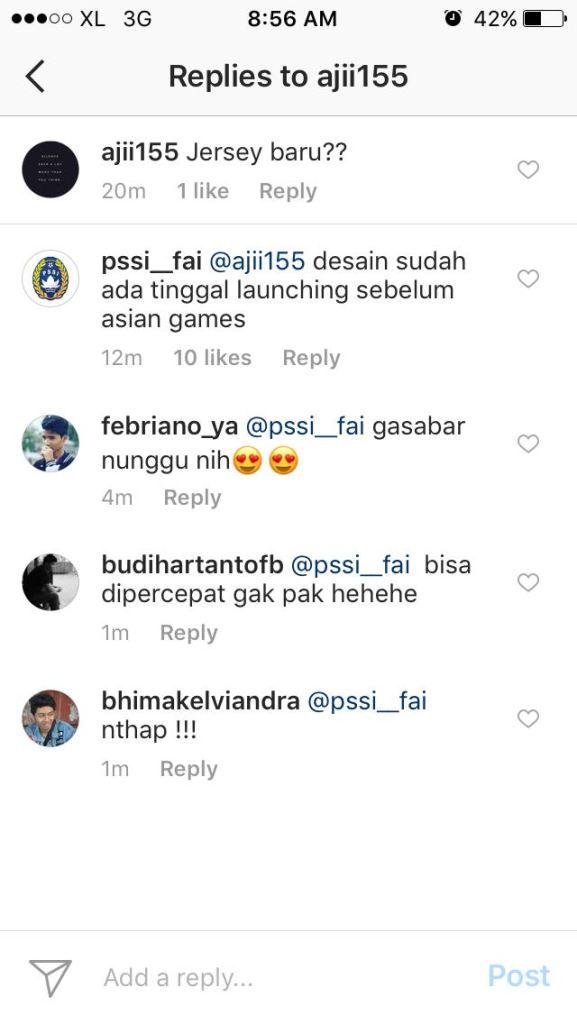 komentar jersey sepak bola terbaru timnas indonesia