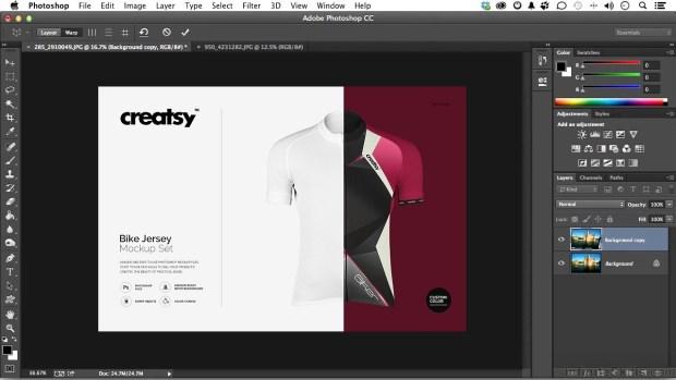 Aplikasi Desain Jersey Futsal Adobe Photoshop