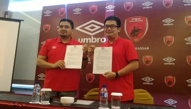 Buat Jersey Sepak Bola Terbaru, PSM Makassar Di Sponsori Oleh Apparel Umbro