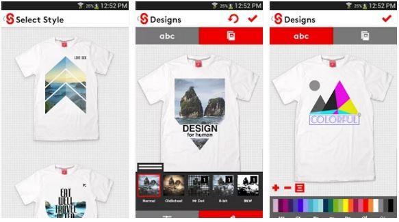 Aplikasi Desain Baju Bola dan Kaos T shirt Design Snaptee