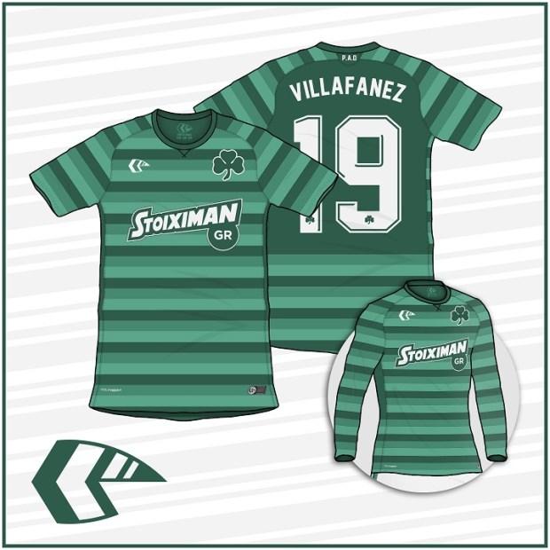 desain kostum futsal terbaik depan belakang panathinaikos fc
