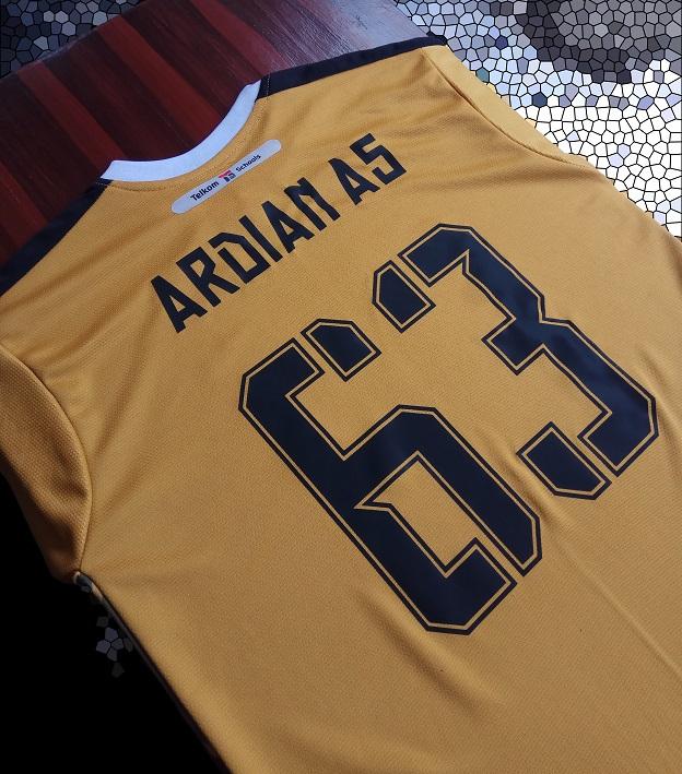 jersey futsal printing kiper elite bagian belakang