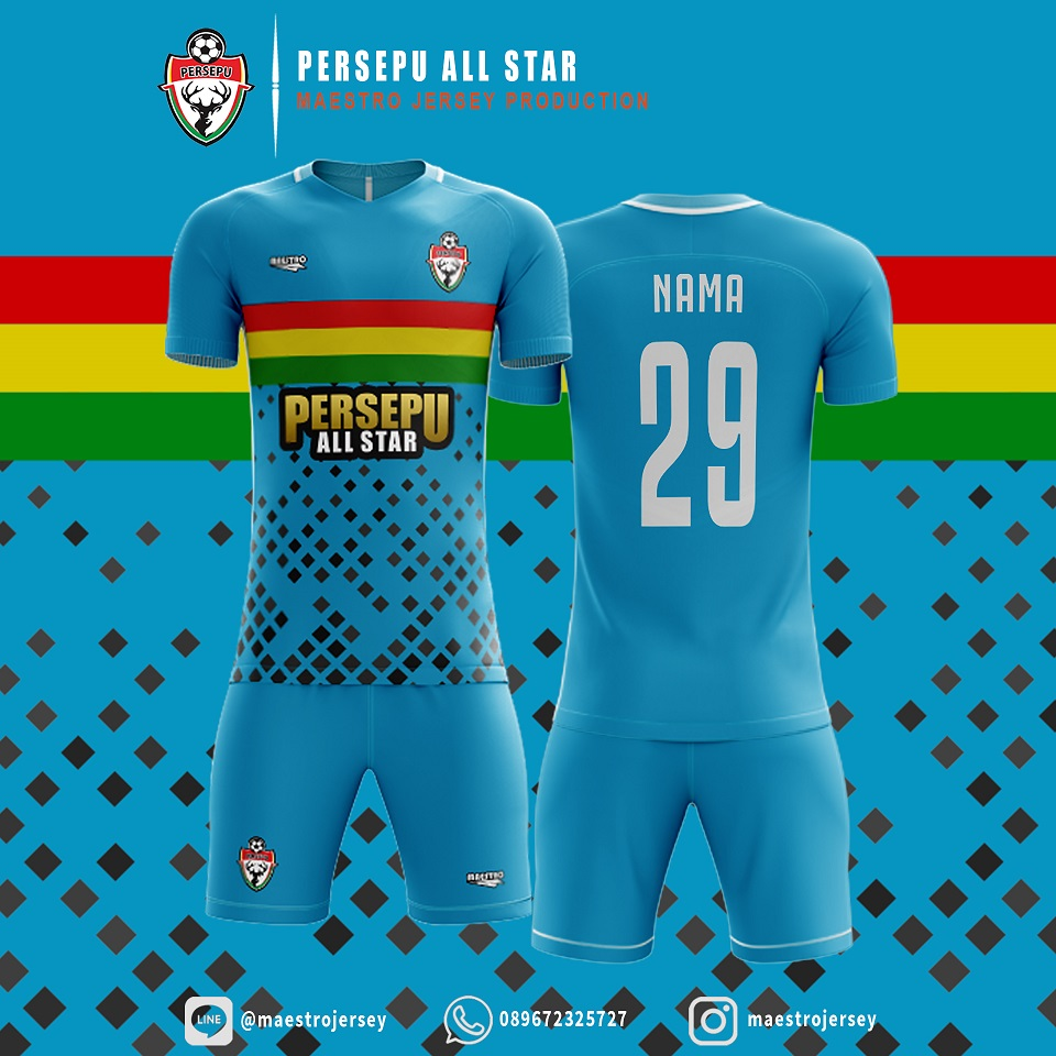 Desain Jersey biru PERSEPU ALL STAR FC