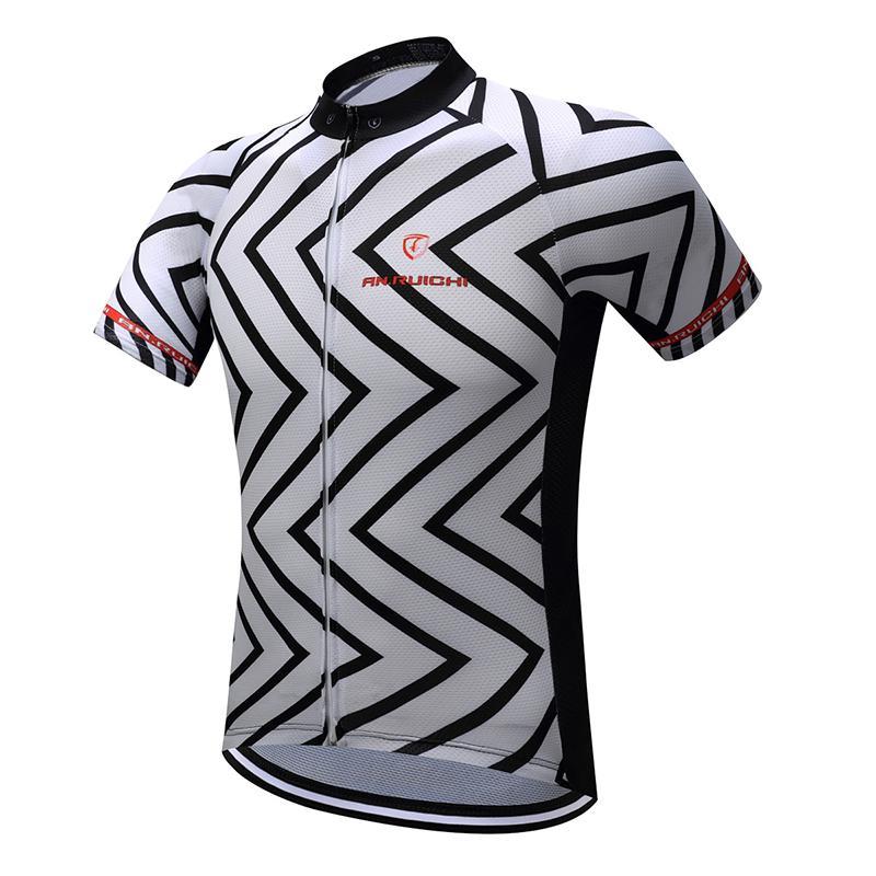desain jersey sepeda keren hitam dan putih