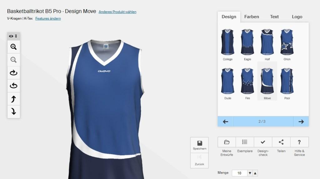 Aplikasi Desain Jersey Basket Online