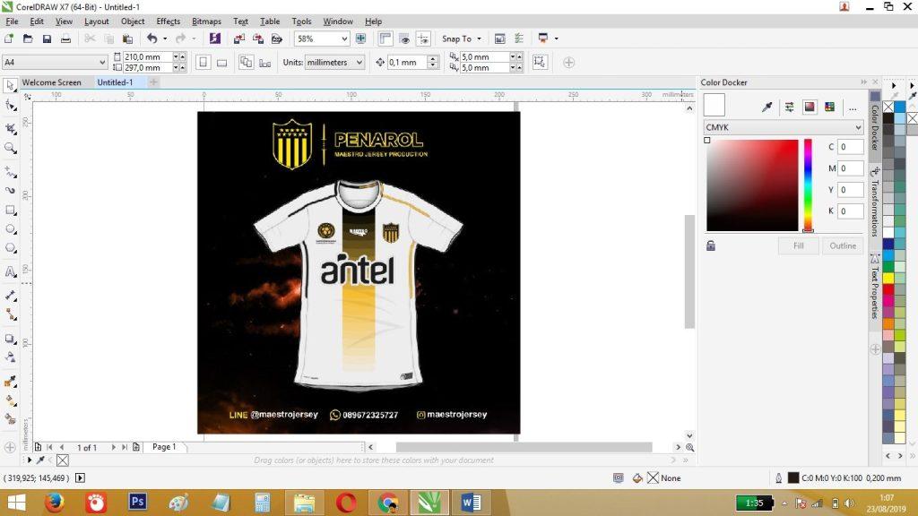 afile desain jersey sebaiknya dalam bentuk vektor atau corel draw