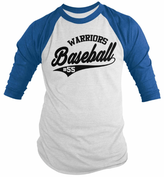 baju baseball couple jenis raglan