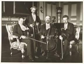 Gewandhaus Quartet 1921, printed 1990 by August Sander 1876-1964