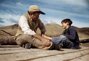 Ernest Hemingway y su hijo Gregory, Valle del Sol, Idaho, Oct. 1941.