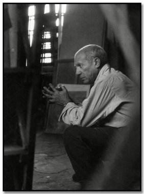 Brassai 318 Picasso en su estudio.