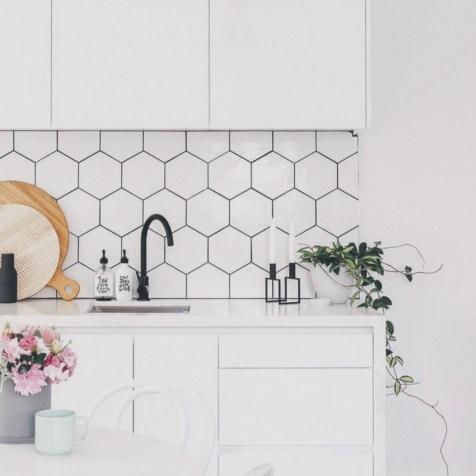 geometric pattern kitchen